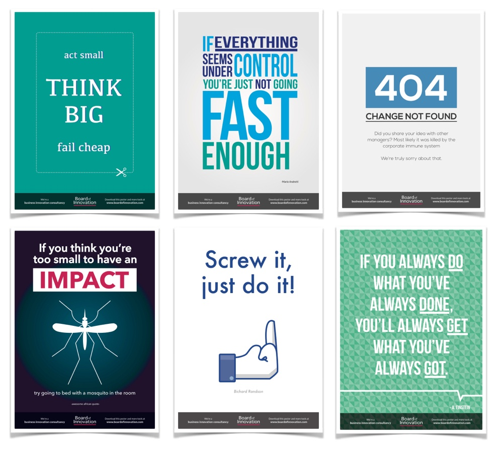 9 innovation posters